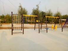 XS-LY0009绳网攀爬秋千荡椅组合