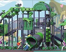 XS-JM7018最新积木系列儿童滑梯